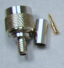 TNC Male Connector For RG-58 Coax Cable Crimp-On