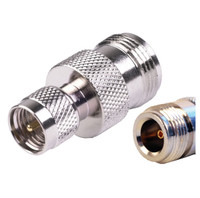 N Female To Mini-UHF Male Adapter