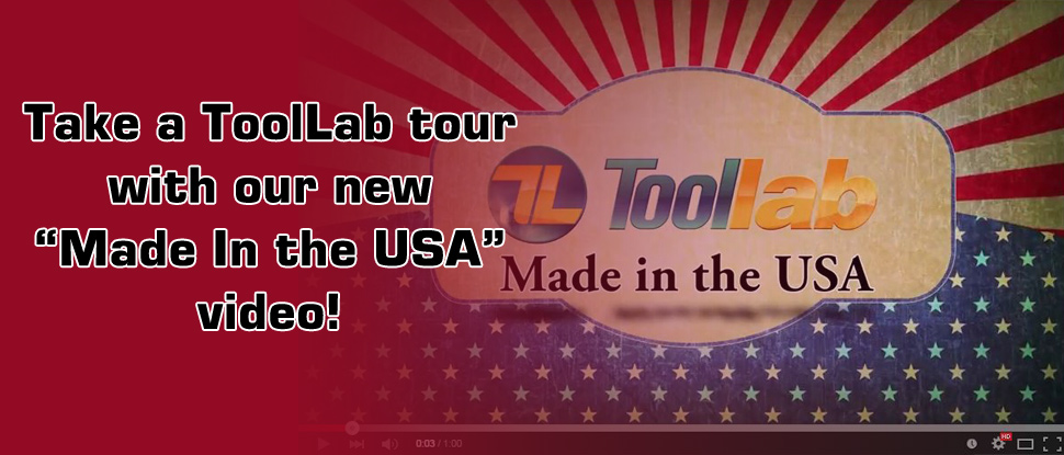"""Take a tour of ToolLab with our """"Made in the USA"""" video."""