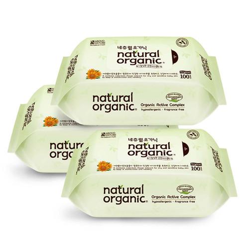 Combo 3 Khăn ướt Natural Organic Hàn Quốc cho bé