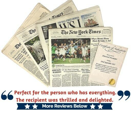 The Day You Were Born Newspaper