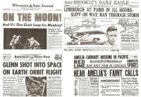 Air & Space Travel Historic Newspaper Set