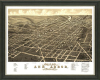 Old Map of Ann Arbor