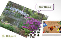 Garden Bridge Personalized Jigsaw Puzzle