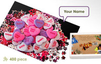 Candy Hearts Personalized Jigsaw Puzzle