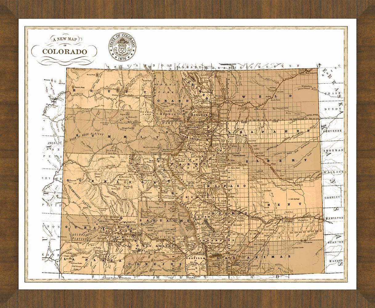 Old Map of Colorado – A Great Framed Map That\'s Ready to Hang