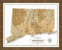 Old Map of Connecticut