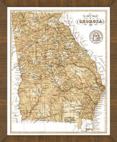Old Map of Georgia