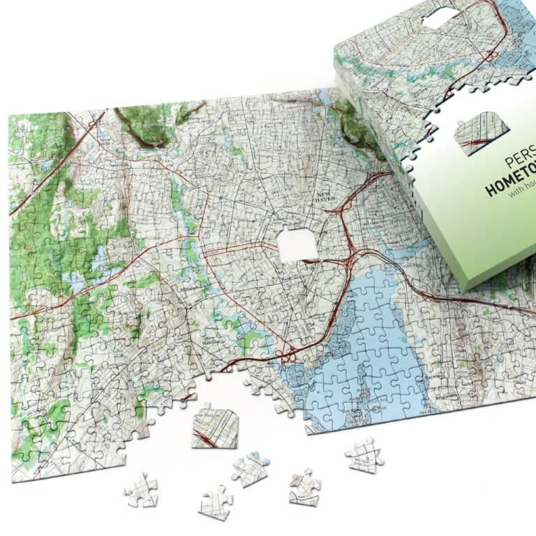 Hometown Puzzle Map Puzzle Centered on Your Home Lowest Price
