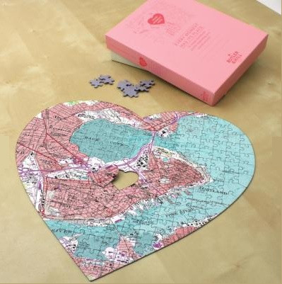 Heart Shaped Map Puzzle