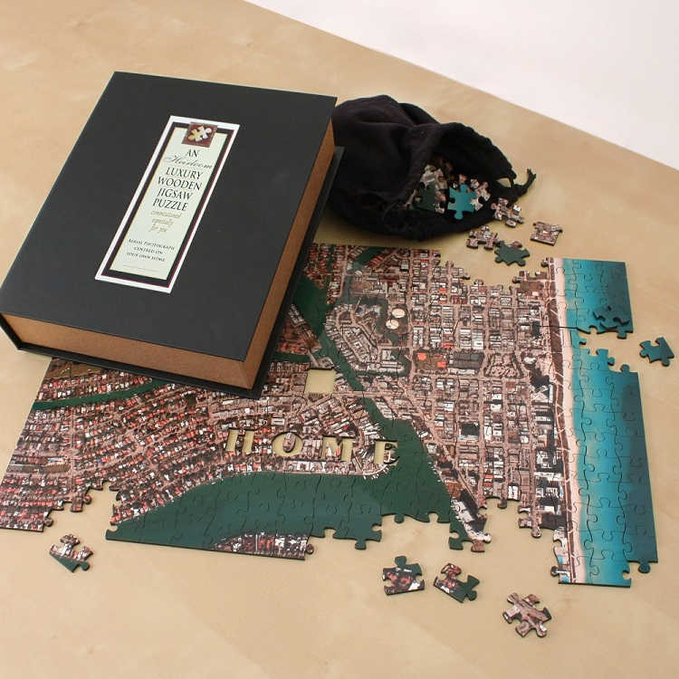 Aerial Hometown Puzzle - Premium Wooden Edition