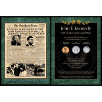 NY Times JFK Assasination Coin Set