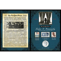 NY Times JFK Coin & Stamp Set