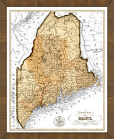 Old Map of Maine