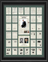 Barack Obama & Presidential History Framed Art