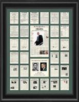 Barack Obama & Presidential History Framed Art