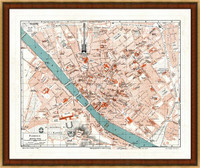 Old Map of Florence