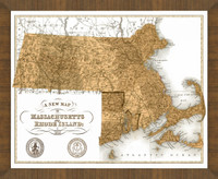 Old Map of Rhode Island