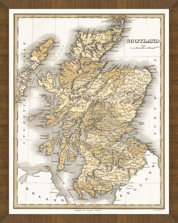 Old Map Of Scotland A Great Framed Map That S Ready To Hang