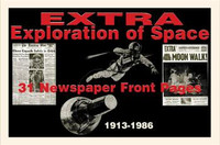 Space Exploration History Newspaper Set