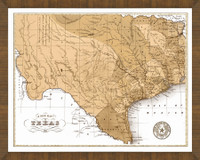 Old Map of Texas