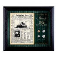 NY Times Titanic Sinks Mint Coin Set