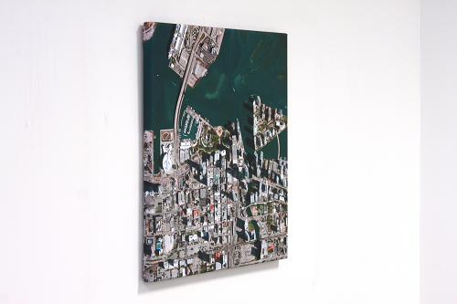 Map Wall Art Aerial View Centered on Your Home