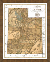 Old Map of Utah