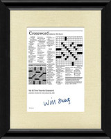 Will Shortz Signed Crossword Puzzle