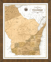 Old Map of Wisconsin