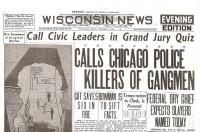 St. Valentine's Day Massacre Historic Newspaper