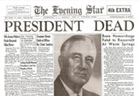 FDR Dies - Hero of WW2 - Historic Newspaper