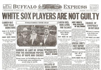 White Sox Acquitted Historic Newspaper Reprint