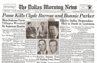 Bonnie & Clyde Historical Newspaper Reprint