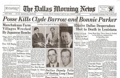 the bonnie amp clyde historical newspaper reprint unique