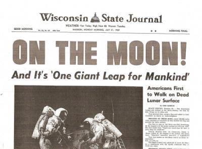 moon landing newspaper - photo #3
