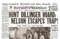 John Dillinger Historic Newspaper