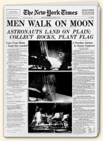 Men Walk on the Moon covered by NY Times