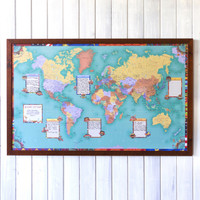Bucket List World Travel Map