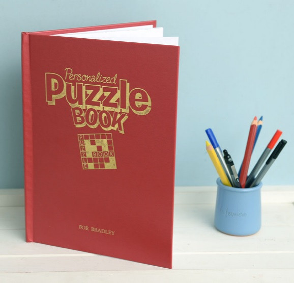 personalized puzzle activity book for grown ups