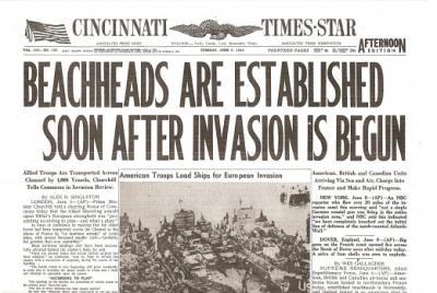 D-Day Historic Newspaper Reprint