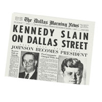 An Original Dallas Morning News from Your Day of Birth