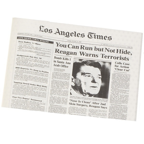 An Original LA Times from Your Day of Birth