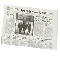 Washington Post – Original Birthday Newspaper