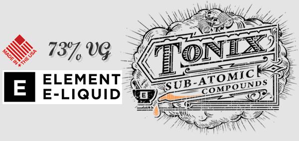 Tonix eliquids by Element. Buy Tonix eliquids UK