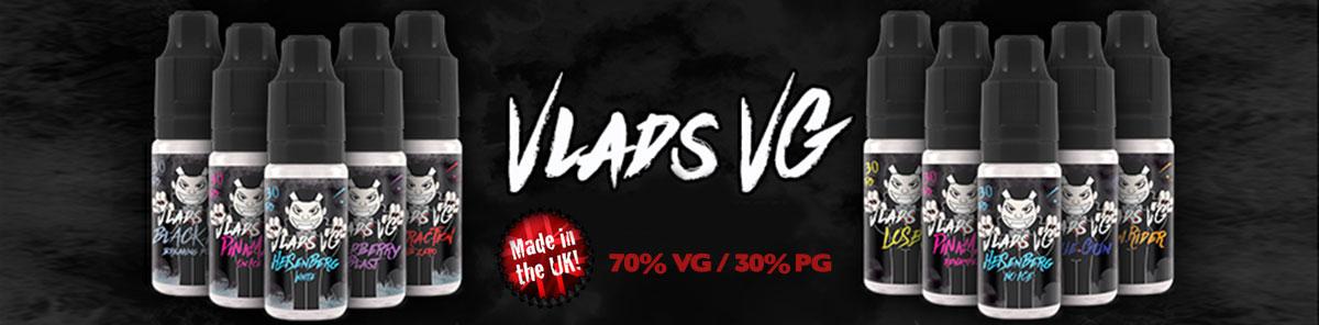 VLADS VG e-liquids by Vampire Vape. 70% VG made in the UK.
