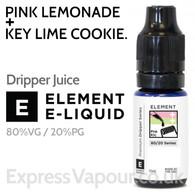 Pink Lemonade + Key Lime Cookie - ELEMENT 80% VG Dripper e-Liquid - 10ml