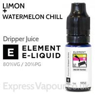 Limon + Watermelon Chill - ELEMENT 80% VG Dripper e-Liquid - 10ml