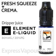 Fresh Squeeze + Crema - ELEMENT 80% VG Dripper e-Liquid - 10ml