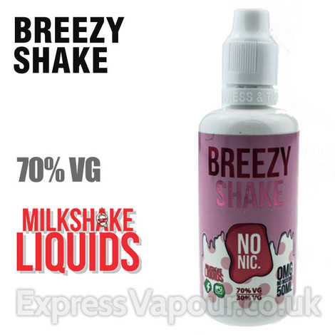 BREEZY SHAKE by Milkshake e-liquid - 70% VG - 50ml